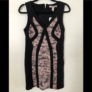 Forever 21 mini black/mauve dress